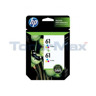 HP NO 61 INK CART TRI-COLOR TWIN-PACK